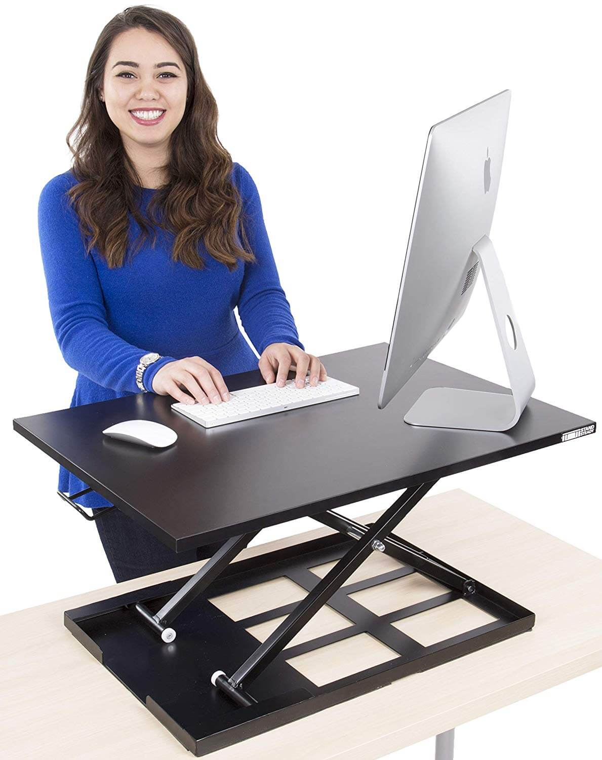 Mount-It! Mobile Stand Up Desk Height Adjustable